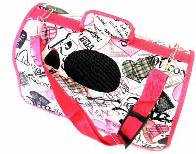 Bolsa de transporte para cães e gatos deluxe Rosa
